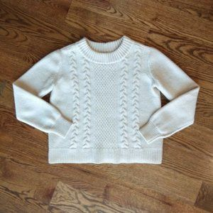 Joie 100% Merino Wool Cable Knit Sweater